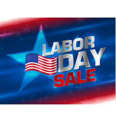 American labor day background vector