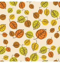 Autumn leaves pattern for design wrapping paper vector