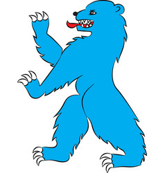 Bear blue rampant vector