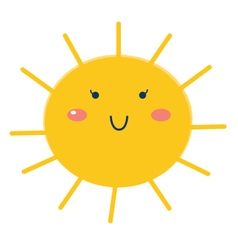 Beautiful Sun isolated on white - cartoon vector image vector image