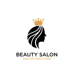 beauty salon logo design inspiration vector image
