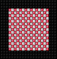 black white and red glossy cubes vector image