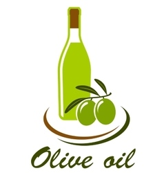 Bottle with olive oil vector