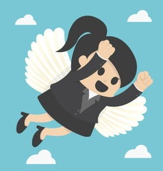Business Woman flying freedom vector