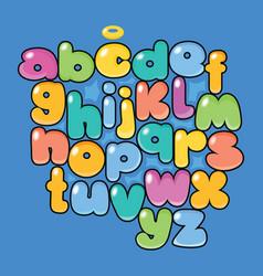 cartoon alphabet typeface vector image