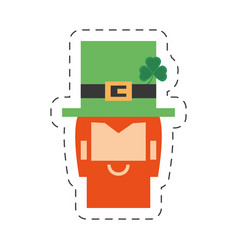 cartoon face leprechaun st patricks day vector image