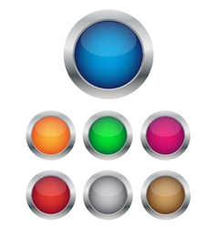 collection of glossy buttons vector image