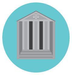 Courthouse concept icon vector