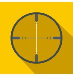 Crosshair flat icon vector image