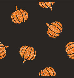 cute glitter pumpkins background vector image