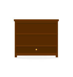 dark wood drawer storage cabinet furniture vector image