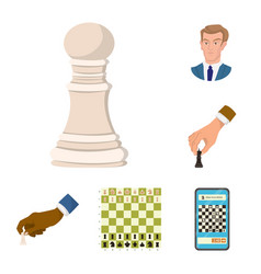 design of chess and game sign set of chess vector image