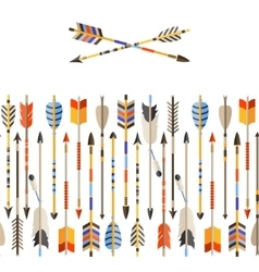 Ethnic seamless pattern with indian arrows in vector image