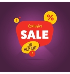 Exclusive sale advertisement promo banner vector image