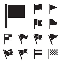 Flag icon set isolated vector