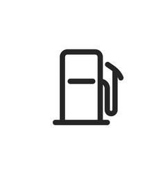 gas station icon line outline gasoline vector image