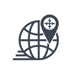 Geo targetting glyph icon vector