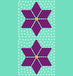 Geometric purple flower consisting of isometric cu vector
