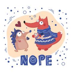 give fish valentine day cartoon animal set vector image