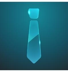 glass tie icon vector image