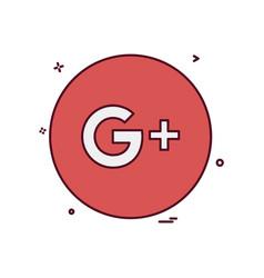 google plus icon design vector image