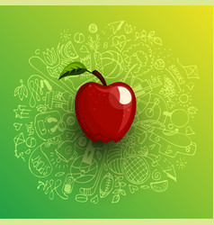 healthy lifestyle concept with sport and healthy vector image