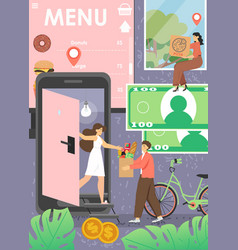 Home food delivery service poster template vector