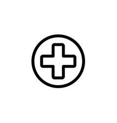 hospital sign outline icon vector image
