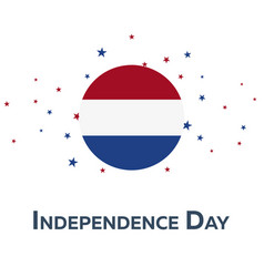 independence day of netherlands patriotic banner vector image