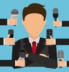 interview concept vector image