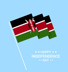 Kenya independence day typographic design with vector