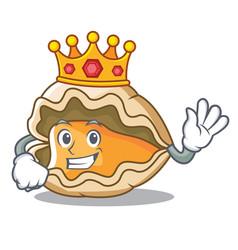 King oyster mascot cartoon style vector