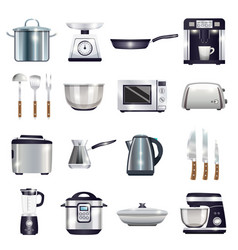 Kitchen accessories set vector