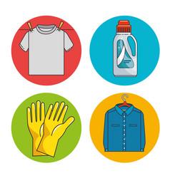Laundry icon set vector