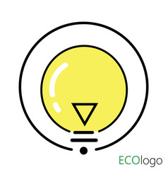 logo is energy a stylized light bulb vector image