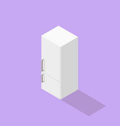 low poly isometric fridge vector image