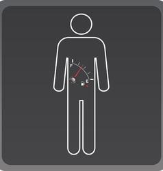 Man icon with fuel gauge vector