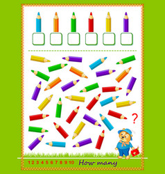 Mathematical education for children count vector
