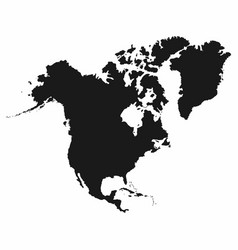 North america map monochrome north america icon vector