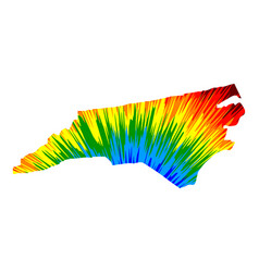 North carolina - map is designed rainbow abstract vector