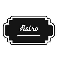 old label icon simple style vector image