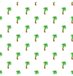 Palm tree pattern cartoon style vector