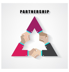 Partnership sign vector