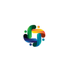 People community logo template icon element vector