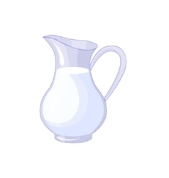 Pitcher With Fresh Milk Based Product Isolated vector
