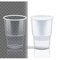 plastic cup transparent product packing vector image