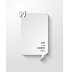 Quotation mark frame with flat style and space vector