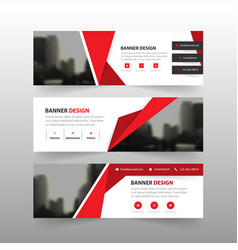 Red abstract polygon corporate business vector