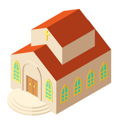 religious church icon isometric style vector image