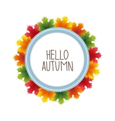 Round banner advertising and autumn vector image